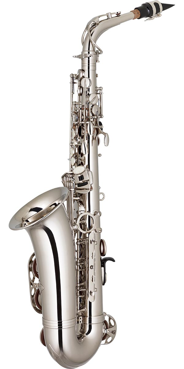 sa500 saxofone alto eagle sa500 n niquelado posterior