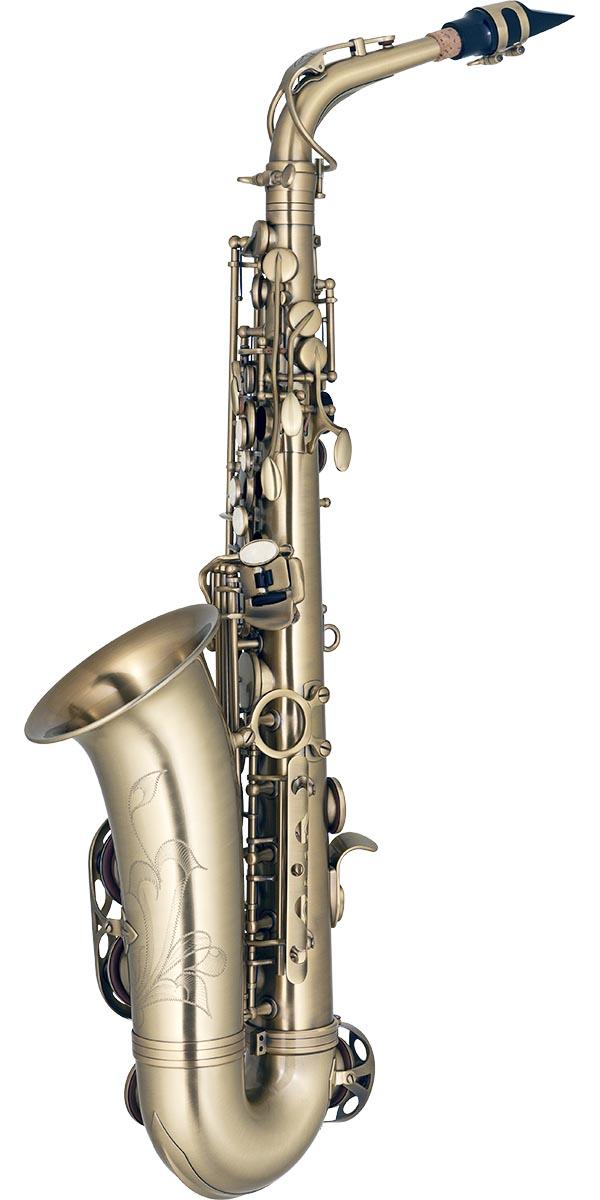 sa500 saxofone alto eagle sa500 vg dourado envelhecido posterior