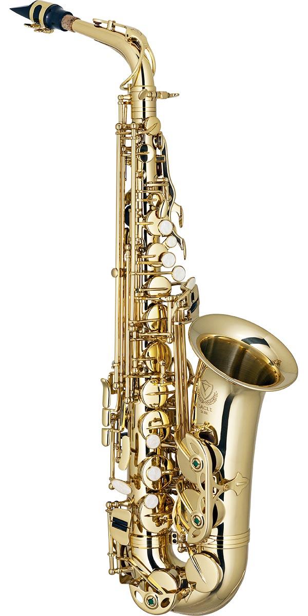 sa501 saxofone alto eagle sa501 laqueado dourado frontal