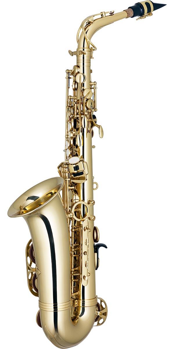 sa501 saxofone alto eagle sa501 laqueado dourado posterior