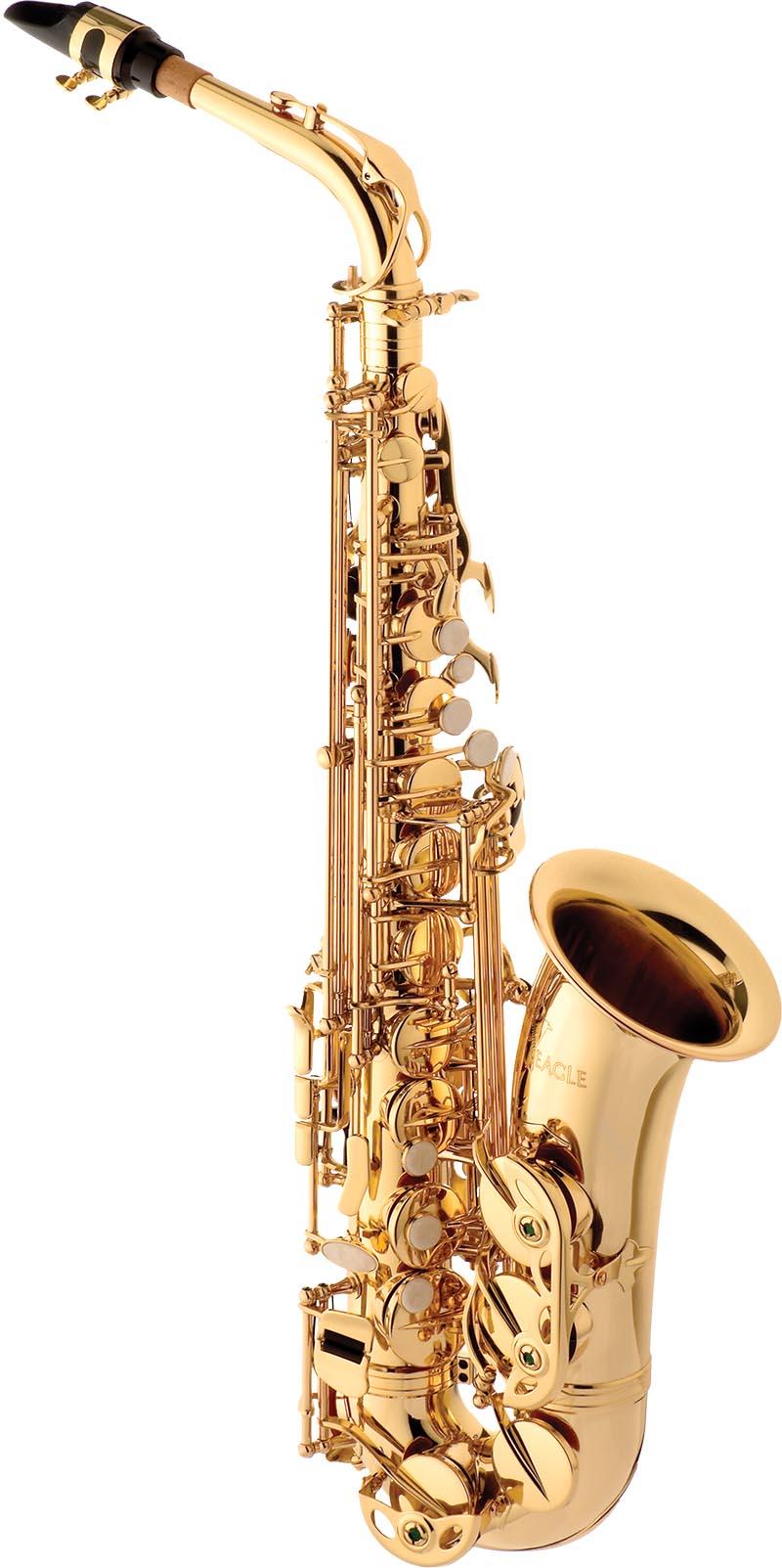 sa501 saxofone alto eagle sa501 laqueado