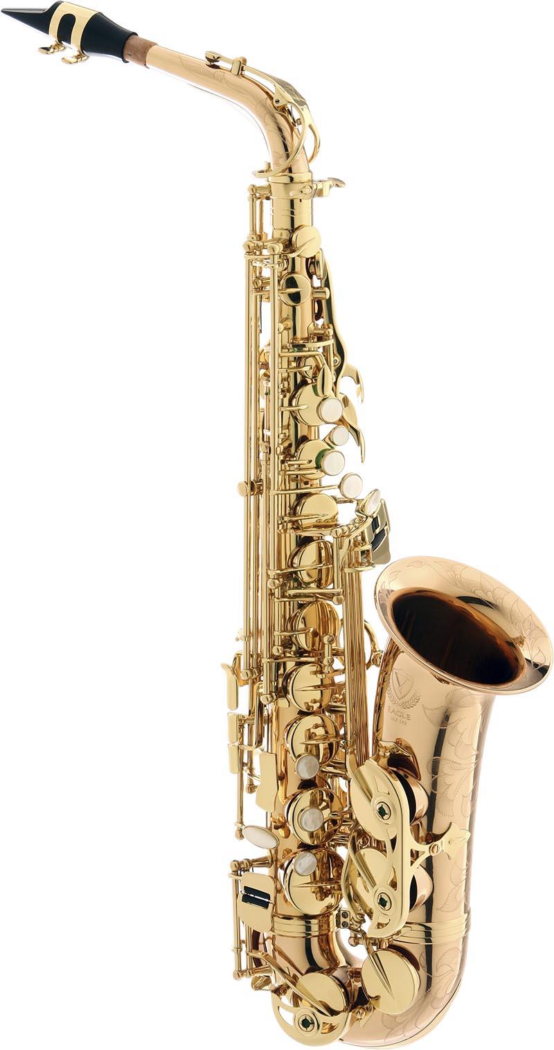 sax510 saxofone alto de bronze eagle sax510 laqueado