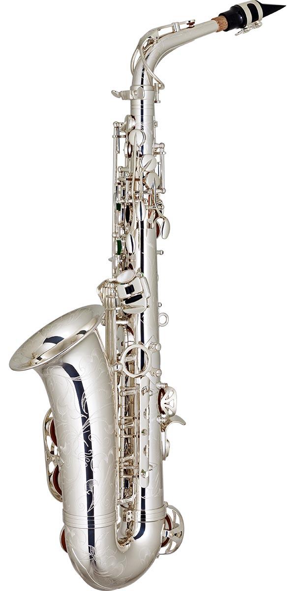 sax510s saxofone alto bronze eagle master series sax510s banhado prata posterior