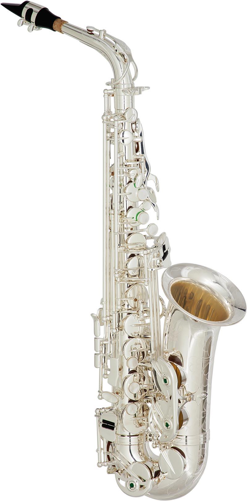 sax510s saxofone alto de bronze banhado a prata eagle