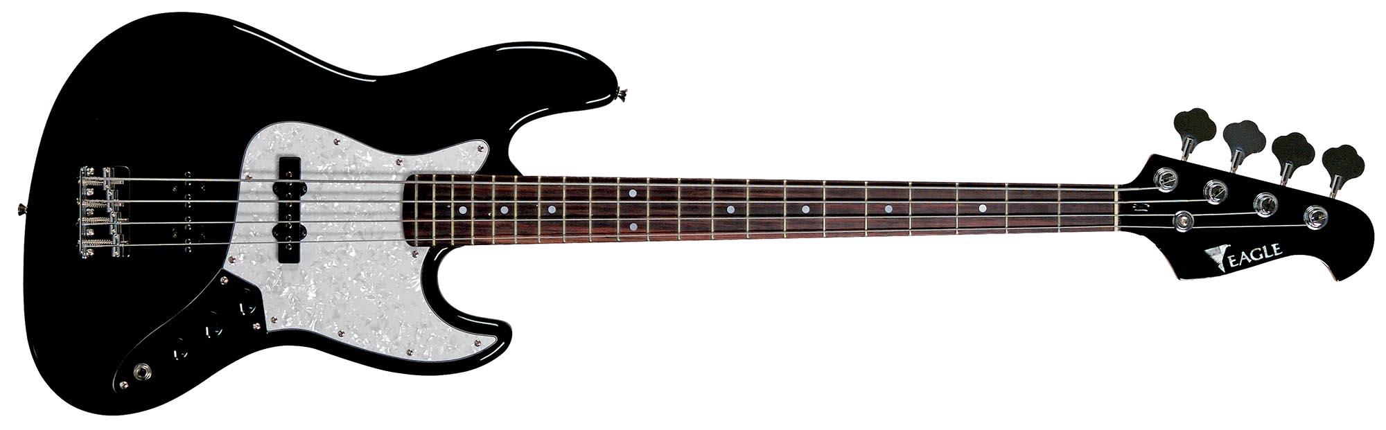 sjb005 baixo eletrico 4 cordas jazz bass eagle sjb005 bk preto visao frontal