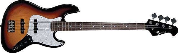 sjb005 baixo eletrico 4 cordas jazz bass eagle sjb005 sb sunburst 600
