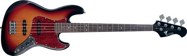 sjb006 baixo eletrico 4 cordas jazz bass eagle sjb006 sb sunburst 600