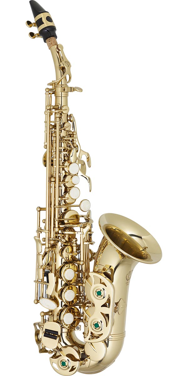 sp508 saxofone soprano curvo eagle classic series sp508 laqueado dourado frontal