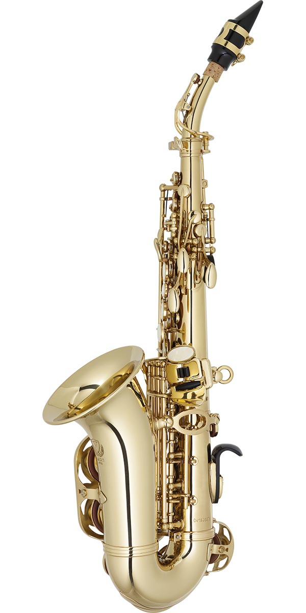 sp508 saxofone soprano curvo eagle classic series sp508 laqueado dourado posterior