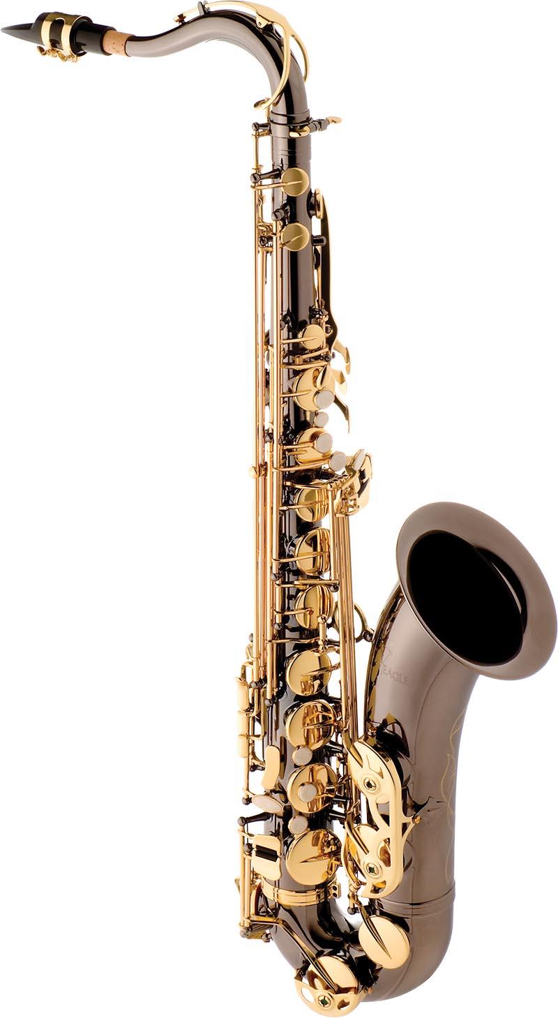 st503 saxofone tenor eagle st503 bg black onix preto
