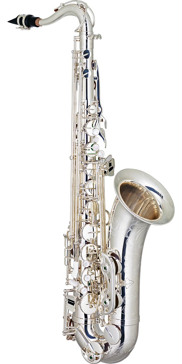 stx513s saxofone tenor bronze eagle master series stx513s banhado prata frontal