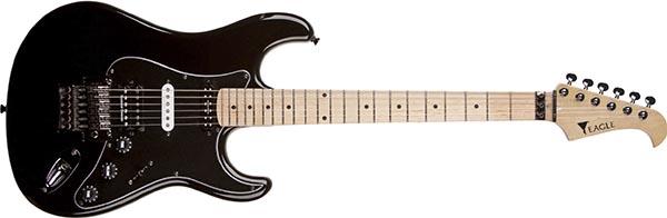 stx775 guitarra eletrica stratocaster eagle floyd rose seymour duncan stx775 bk preta 600