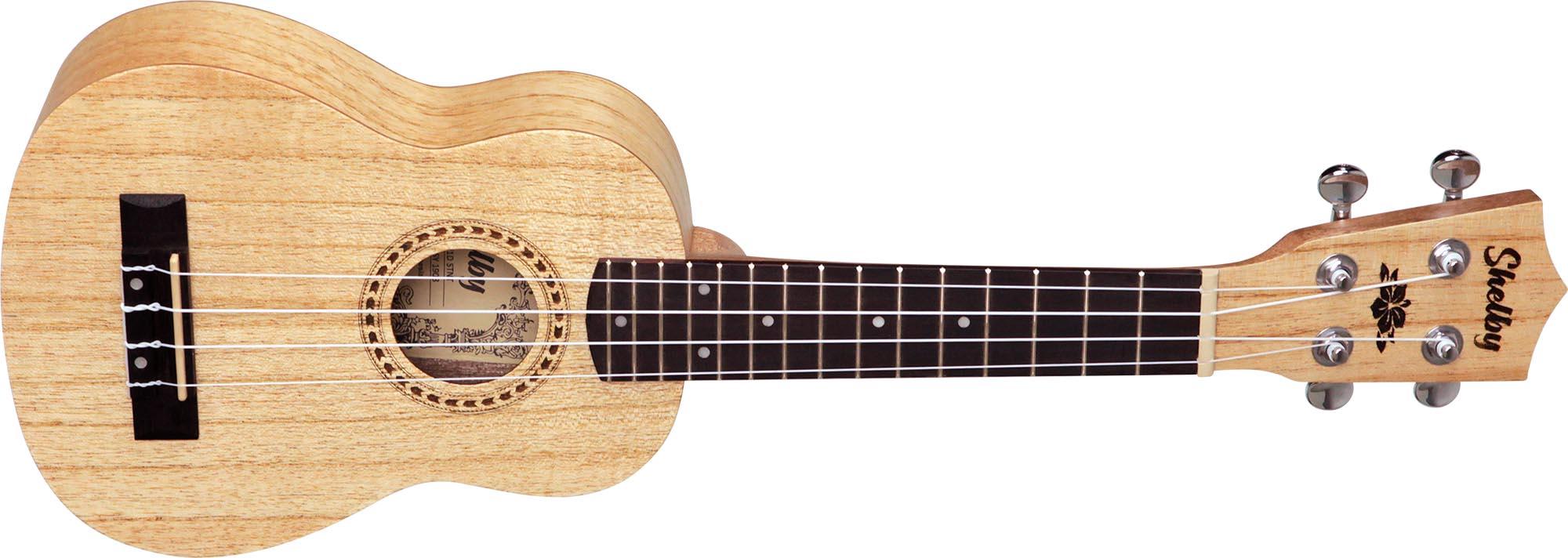su21d ukulele soprano shelby su21d stnt cedro branco acetinado visao frontal