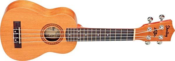 su21m ukulele soprano shelby su21m stnt mogno acetinado visao frontal 600