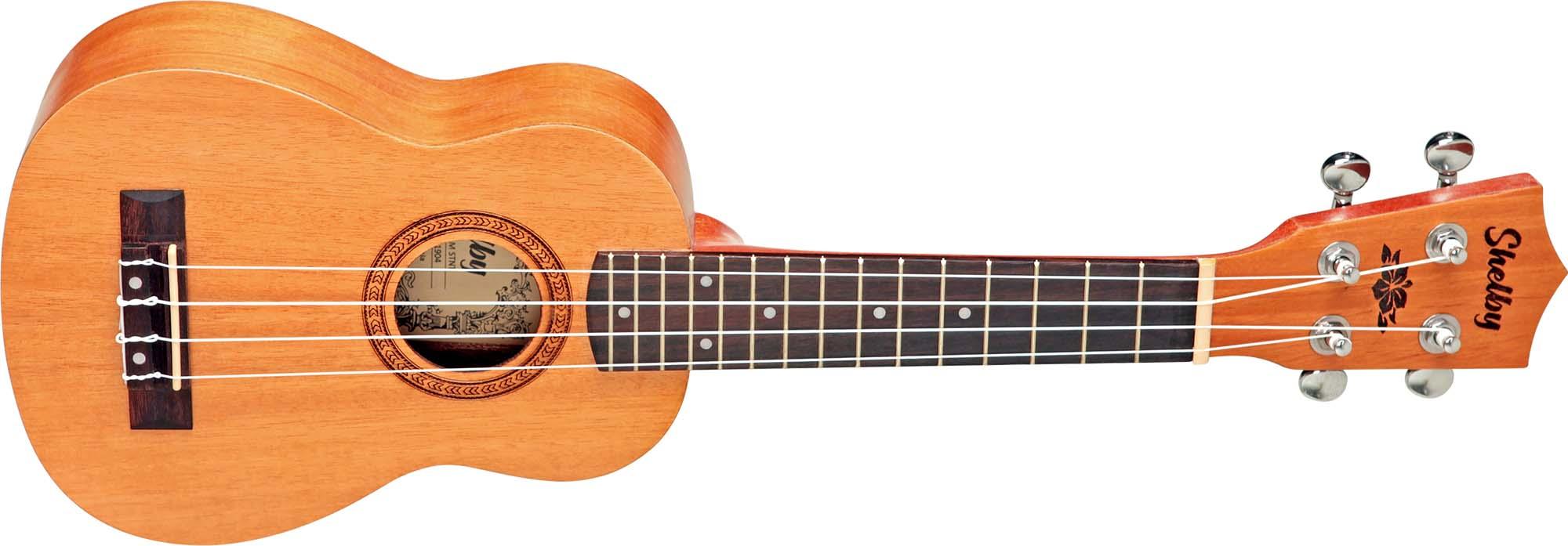 su21m ukulele soprano shelby su21m stnt mogno acetinado visao frontal