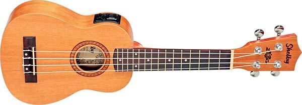 su21me ukulele soprano eletroacustico shelby su21me stnt mogno acetinado visao frontal 600