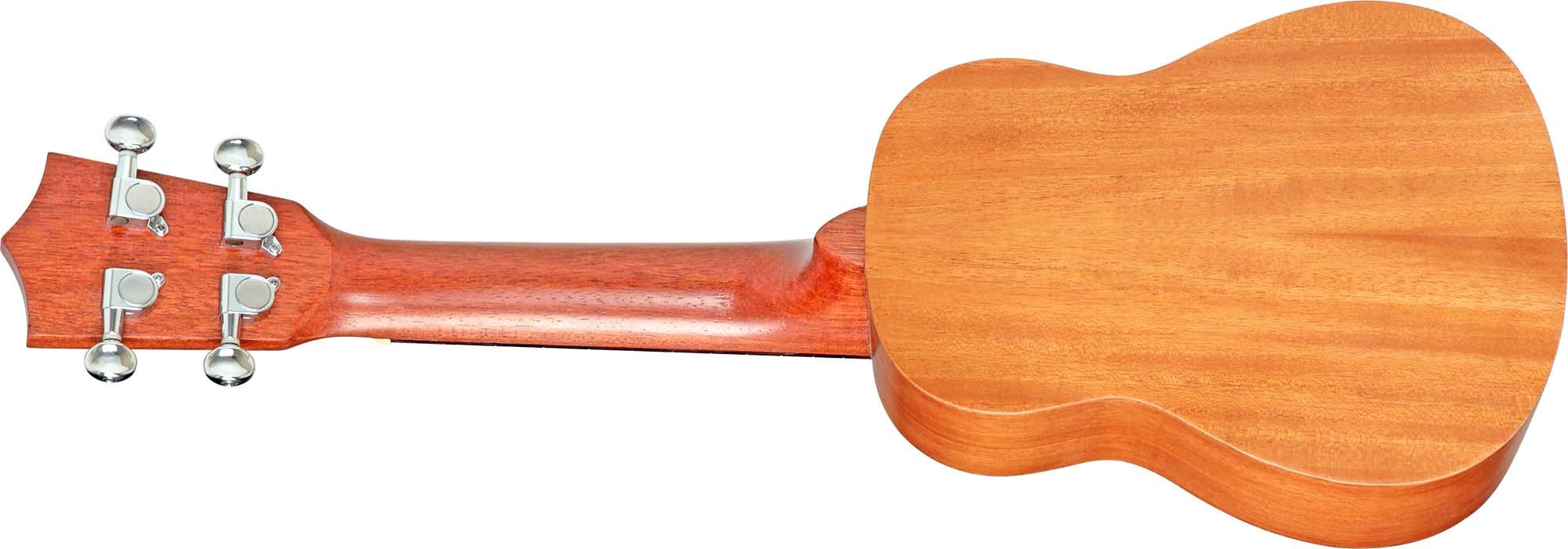 su21me ukulele soprano eletroacustico shelby su21me stnt mogno acetinado visao posterior