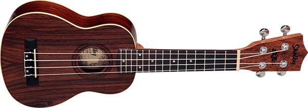 su21r ukulele soprano shelby su21r stnt jacaranda acetinado visao frontal listagem
