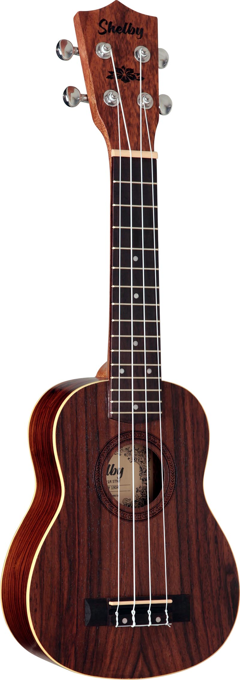 su21r ukulele soprano shelby su21r stnt jacaranda acetinado visao frontal vertical
