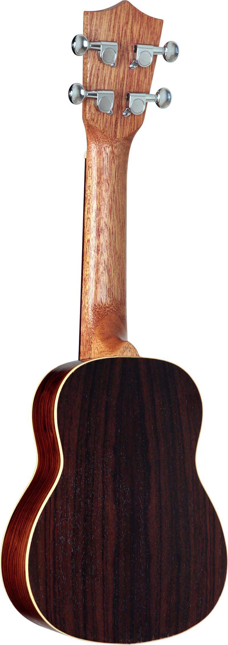 su21r ukulele soprano shelby su21r stnt jacaranda acetinado visao posterior vertical