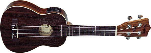 su21re ukulele soprano eletroacustico shelby su21re stnt jacaranda acetinado visao frontal listagem