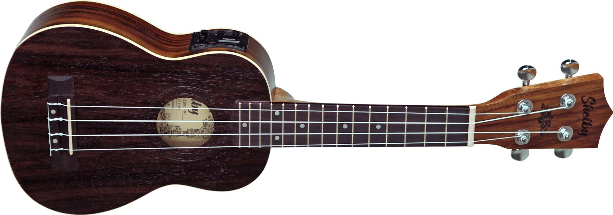 su21re ukulele soprano eletroacustico shelby su21re stnt jacaranda acetinado visao frontal