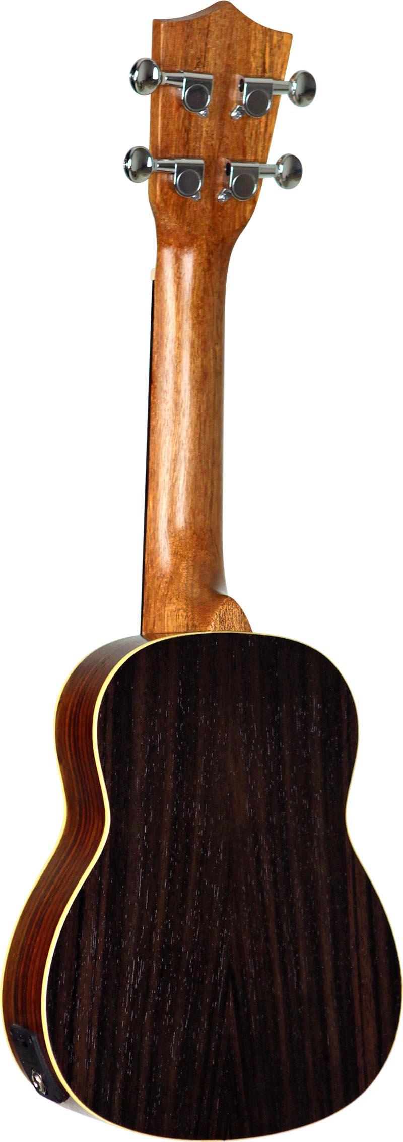 su21re ukulele soprano eletroacustico shelby su21re stnt jacaranda acetinado visao posterior vertical