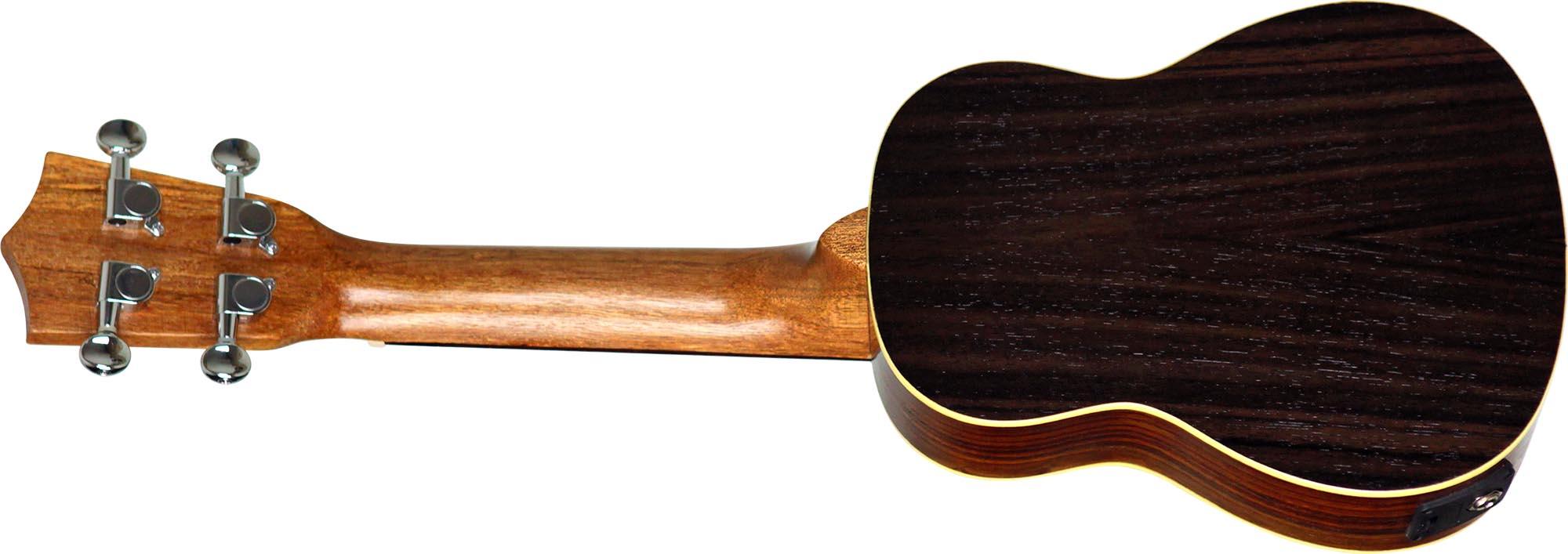 su21re ukulele soprano eletroacustico shelby su21re stnt jacaranda acetinado visao posterior