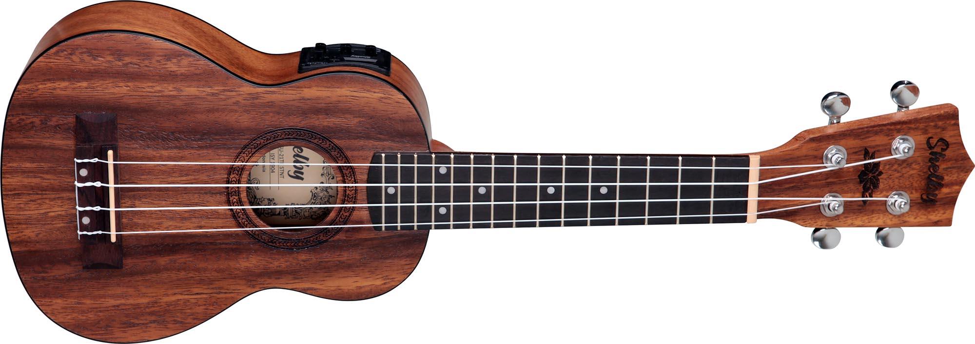 su21te ukulele soprano eletroacustico shelby su21te stnt teca acetinado visao frontal