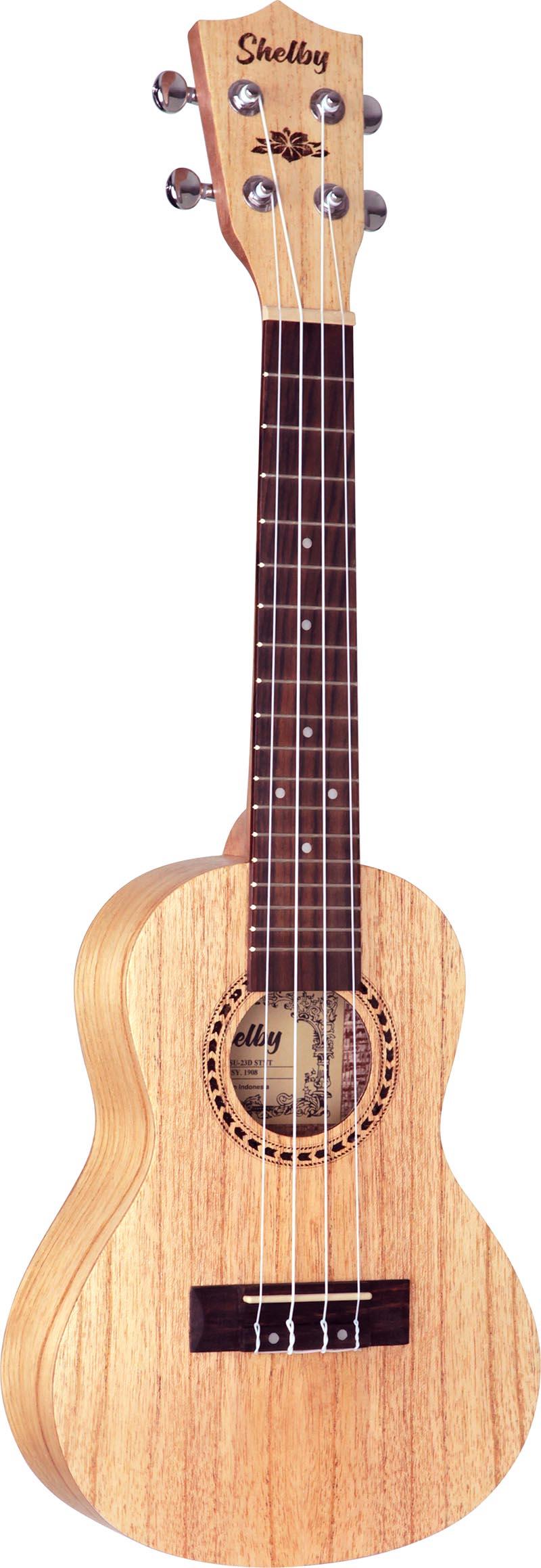 su23d ukulele concerto shelby su23d stnt cedro branco acetinado visao frontal vertical