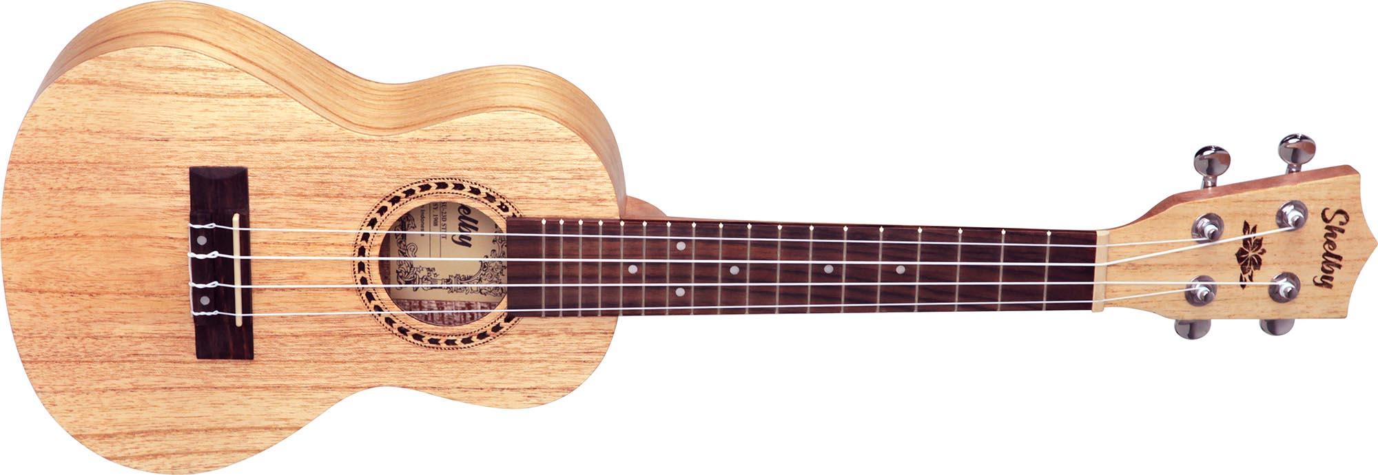 su23d ukulele concerto shelby su23d stnt cedro branco acetinado visao frontal