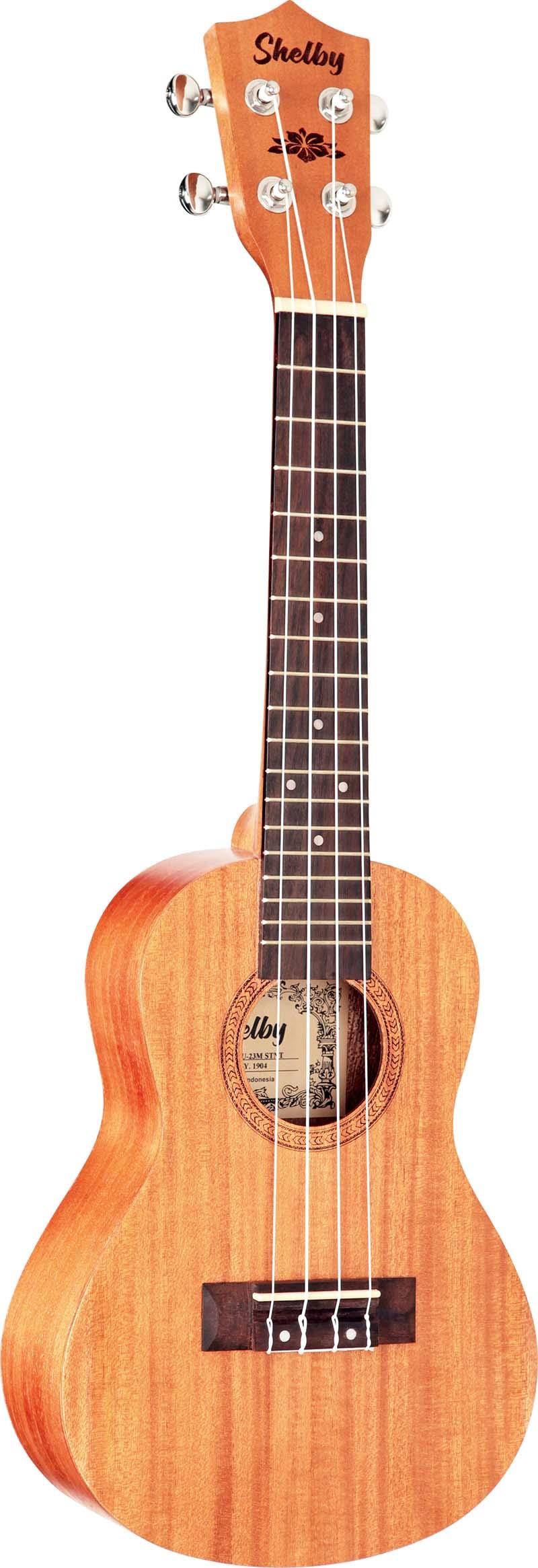 su23m ukulele concerto shelby su23m stnt mogno acetinado visao frontal 1