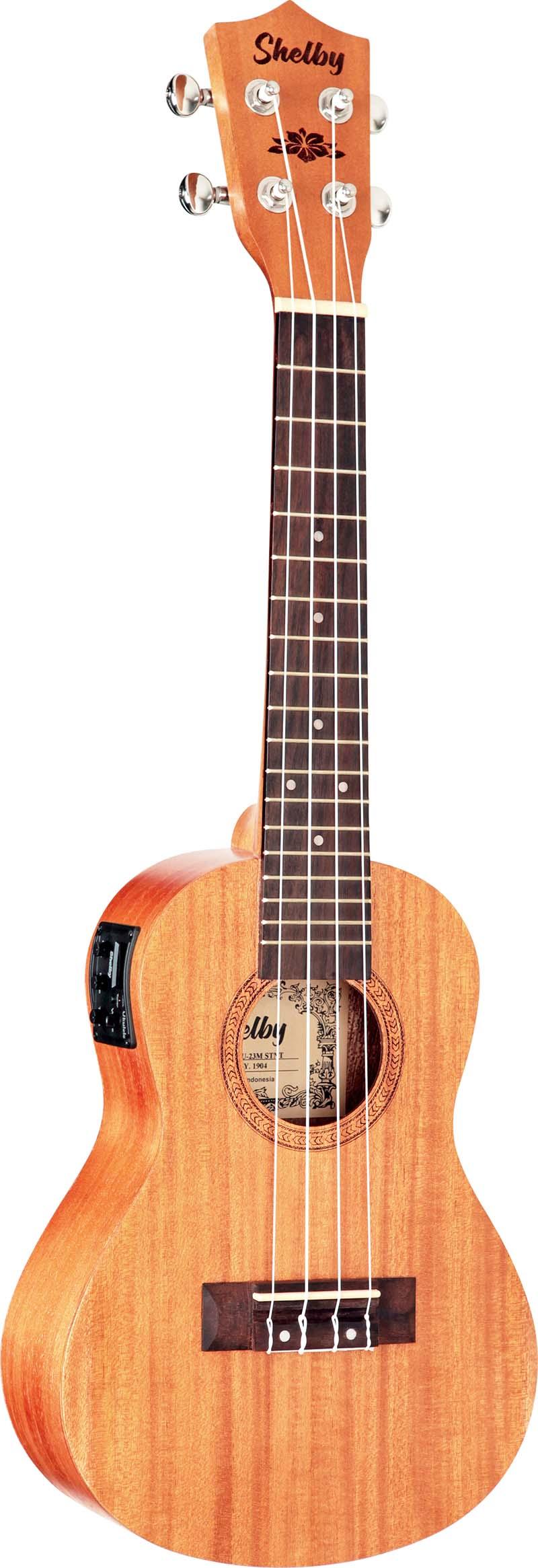 su23me ukulele concerto eletroacustico shelby su23me stnt mogno acetinado visao frontal 1