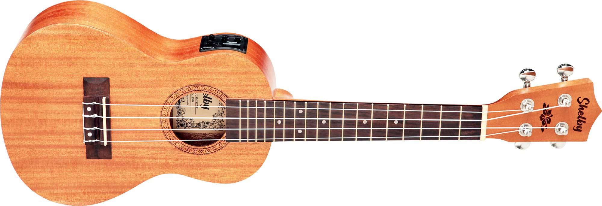 su23me ukulele concerto eletroacustico shelby su23me stnt mogno acetinado visao frontal