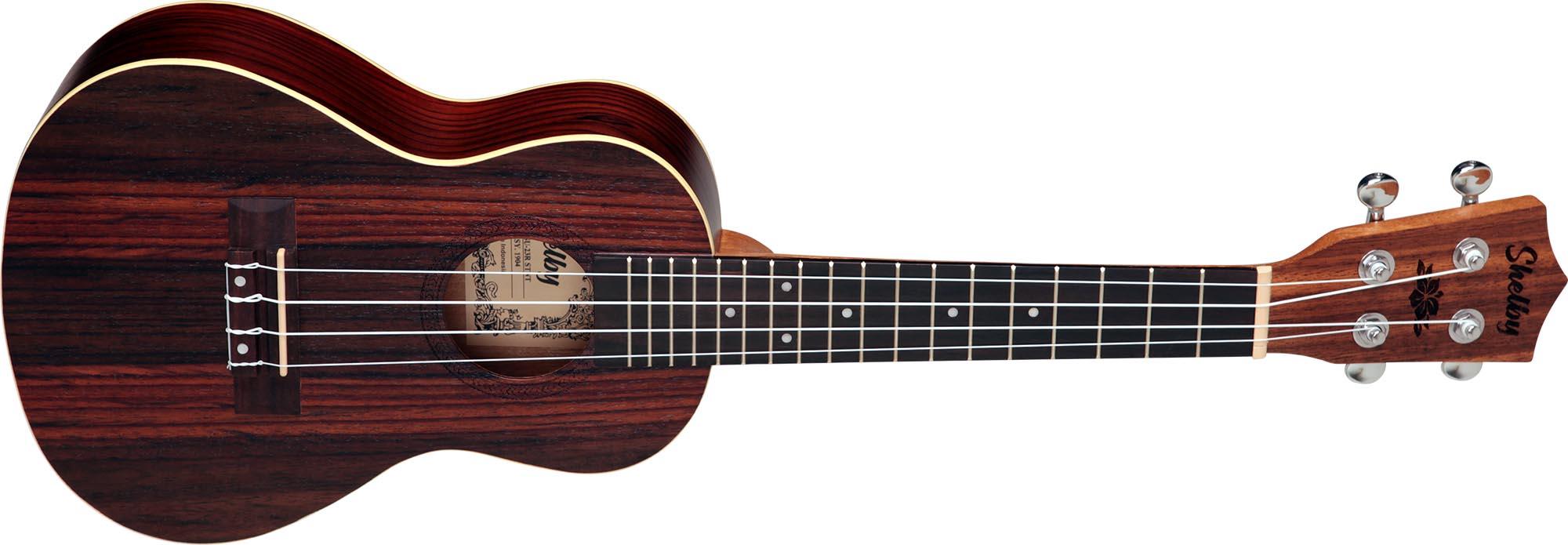 su23r ukulele concerto shelby su23r stnt jacaranda acetinado visao frontal