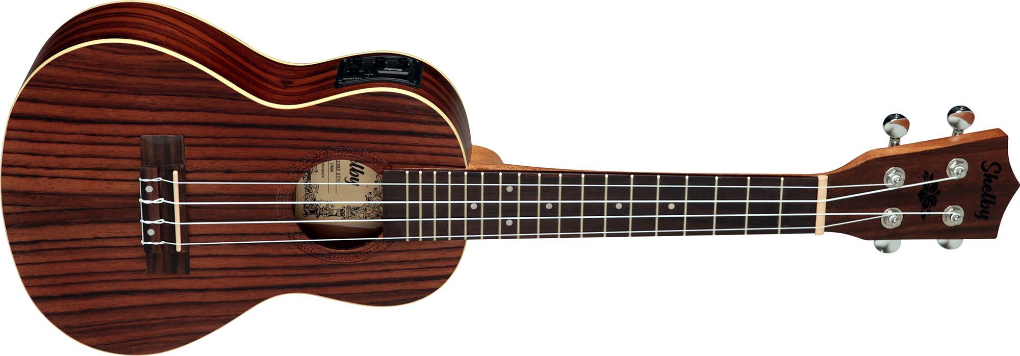 su23re ukulele concerto eletroacustico shelby su23re stnt jacaranda acetinado visao frontal