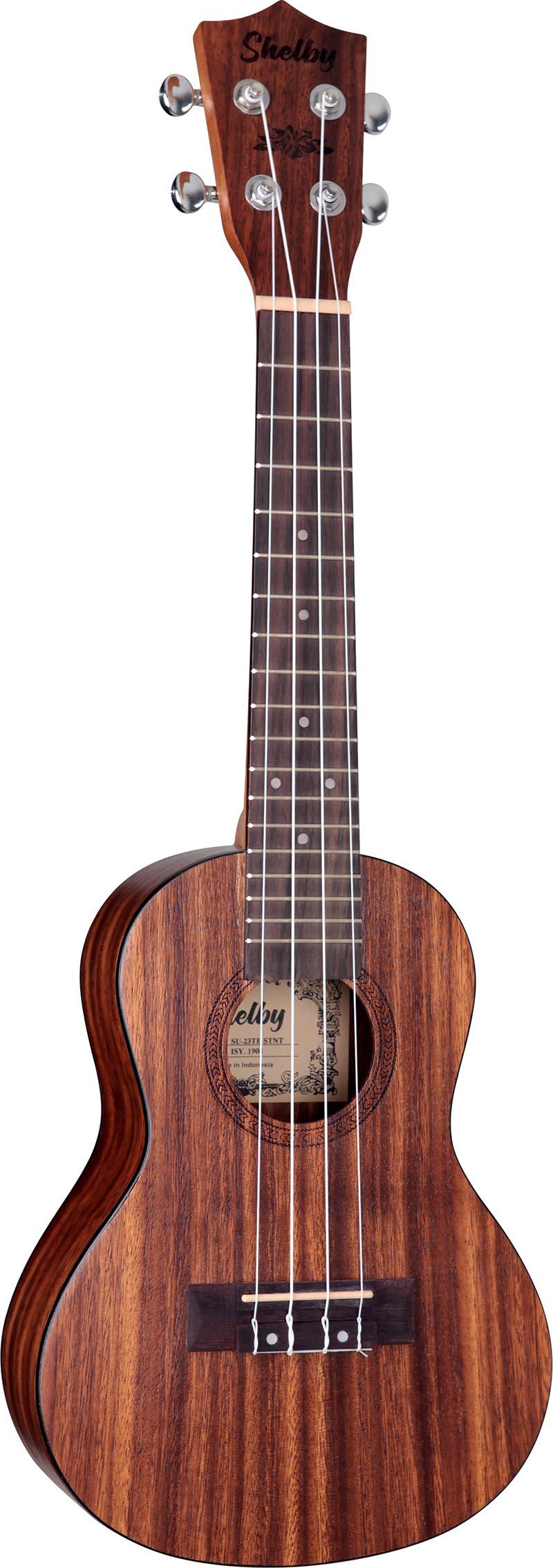 su23t ukulele concerto shelby su23t stnt teca acetinado visao frontal vertical