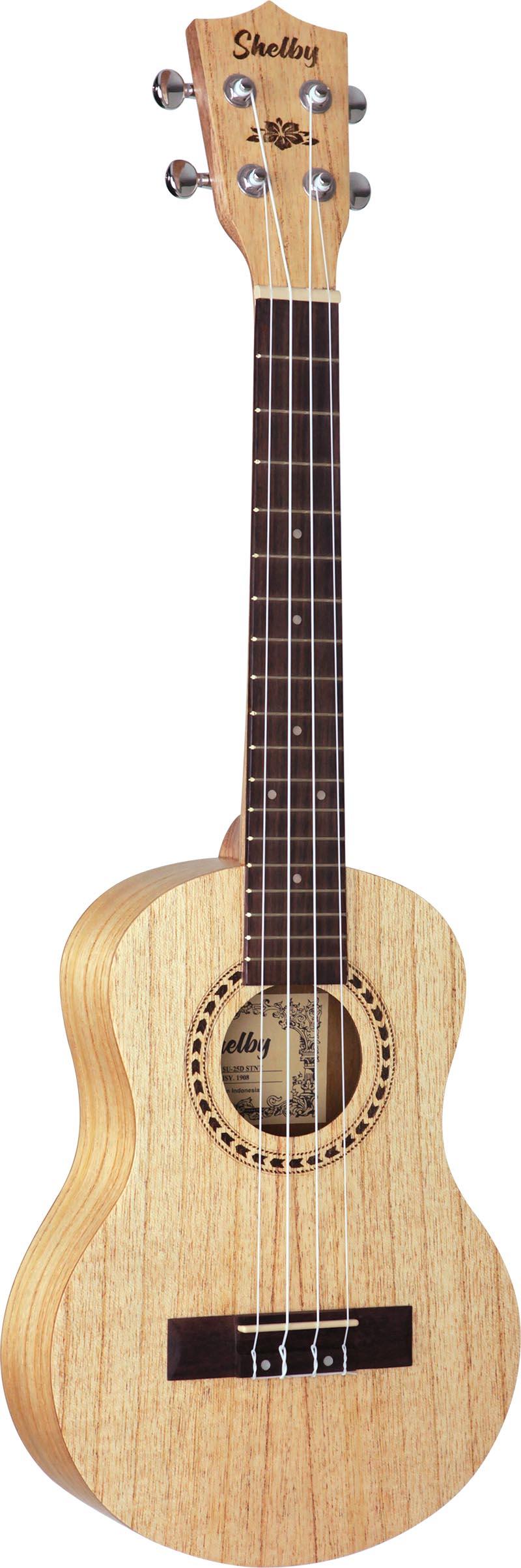 su25d ukulele tenor shelby su25d stnt cedro branco acetinado visao frontal vertical