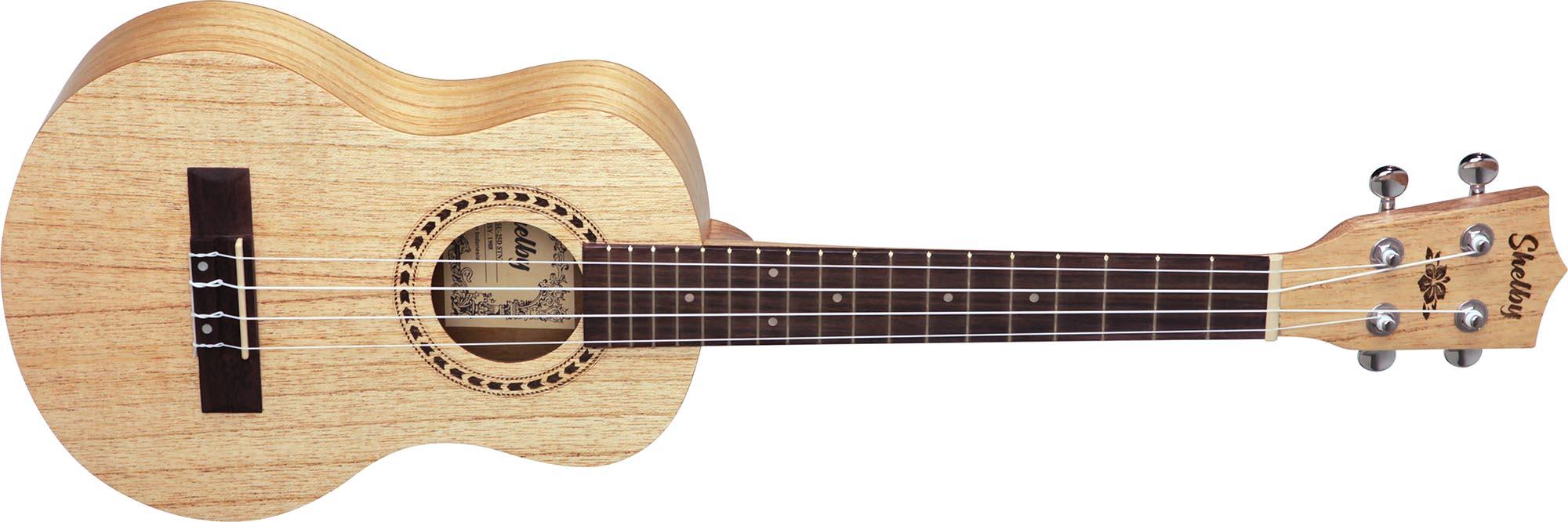 su25d ukulele tenor shelby su25d stnt cedro branco acetinado visao frontal