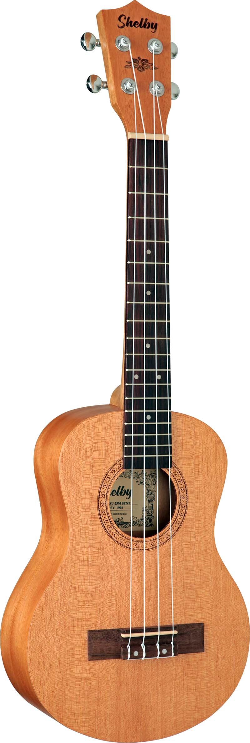 su25m ukulele tenor shelby su25m stnt mogno acetinado visao frontal 1
