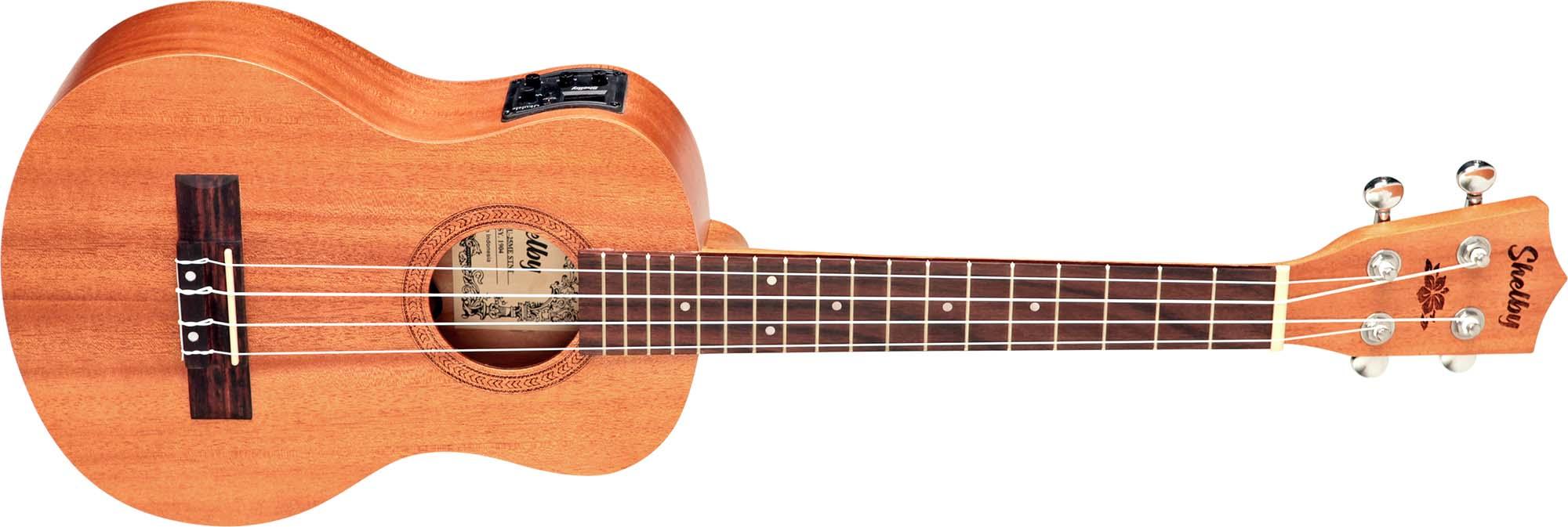 su25me ukulele tenor eletroacustico shelby su25me stnt mogno acetinado visao frontal