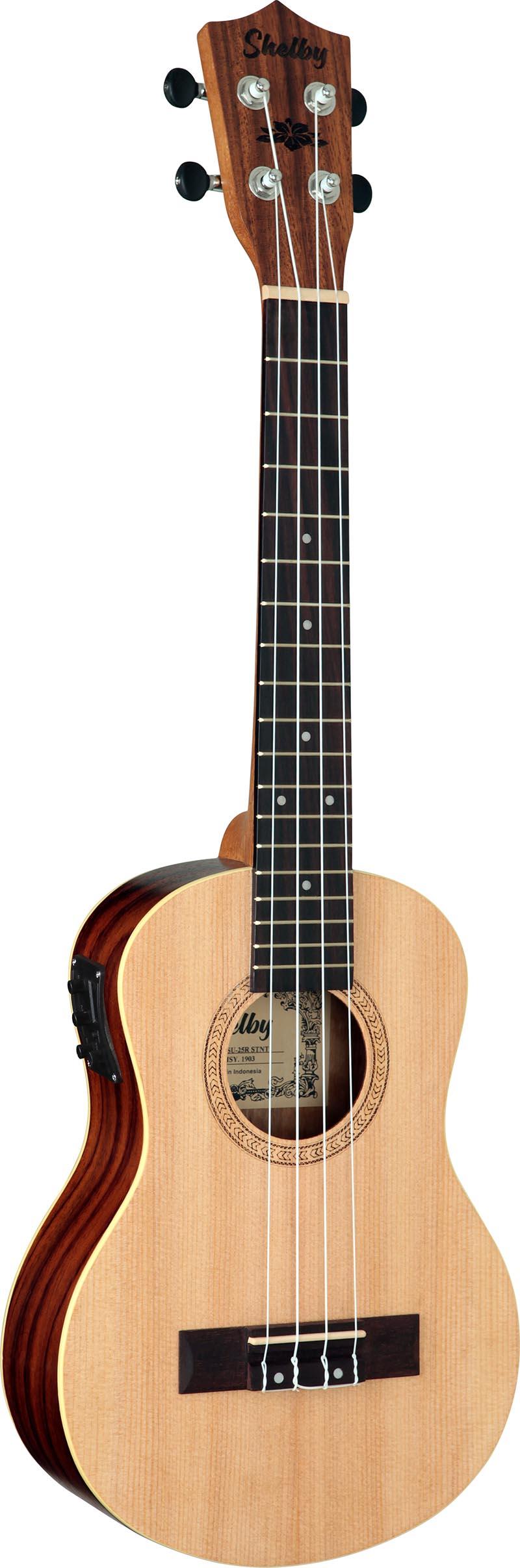 su25re ukulele tenor eletroacustico shelby su25re stnt jacaranda acetinado visao frontal vertical