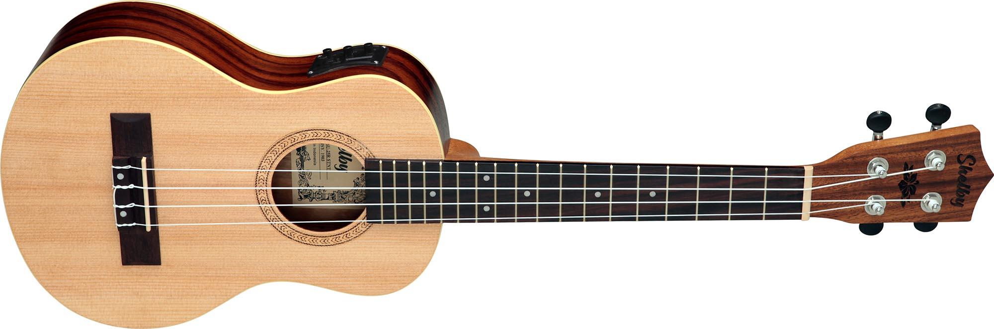 su25re ukulele tenor eletroacustico shelby su25re stnt jacaranda acetinado visao frontal