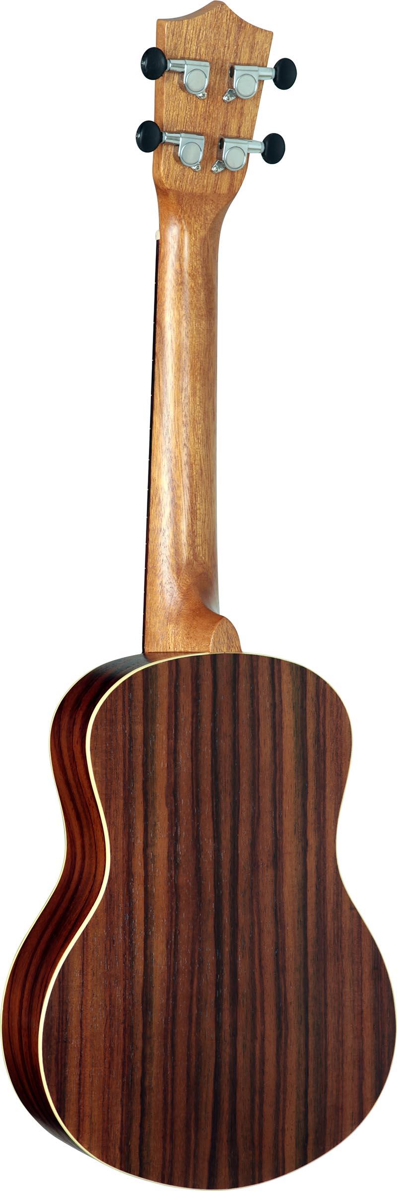 su25re ukulele tenor eletroacustico shelby su25re stnt jacaranda acetinado visao posterior vertical