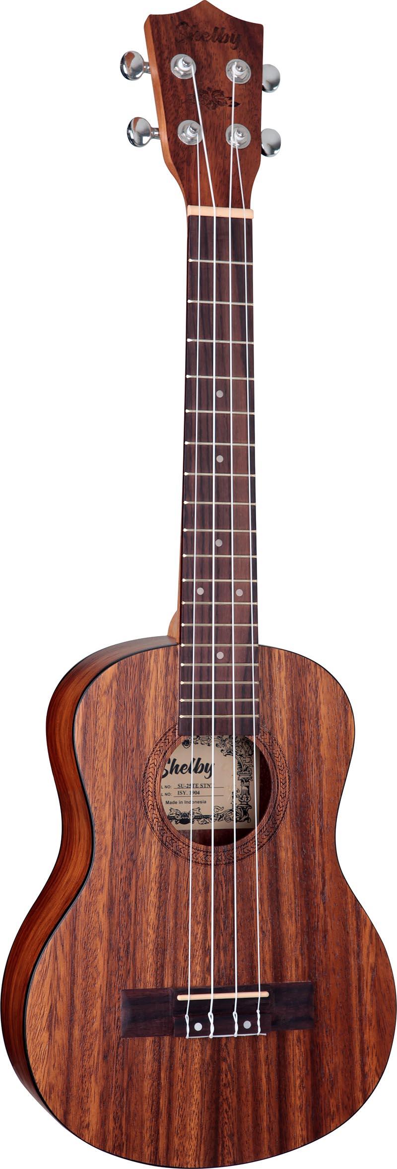 su25t ukulele tenor shelby su25t stnt teca acetinado visao frontal vertical