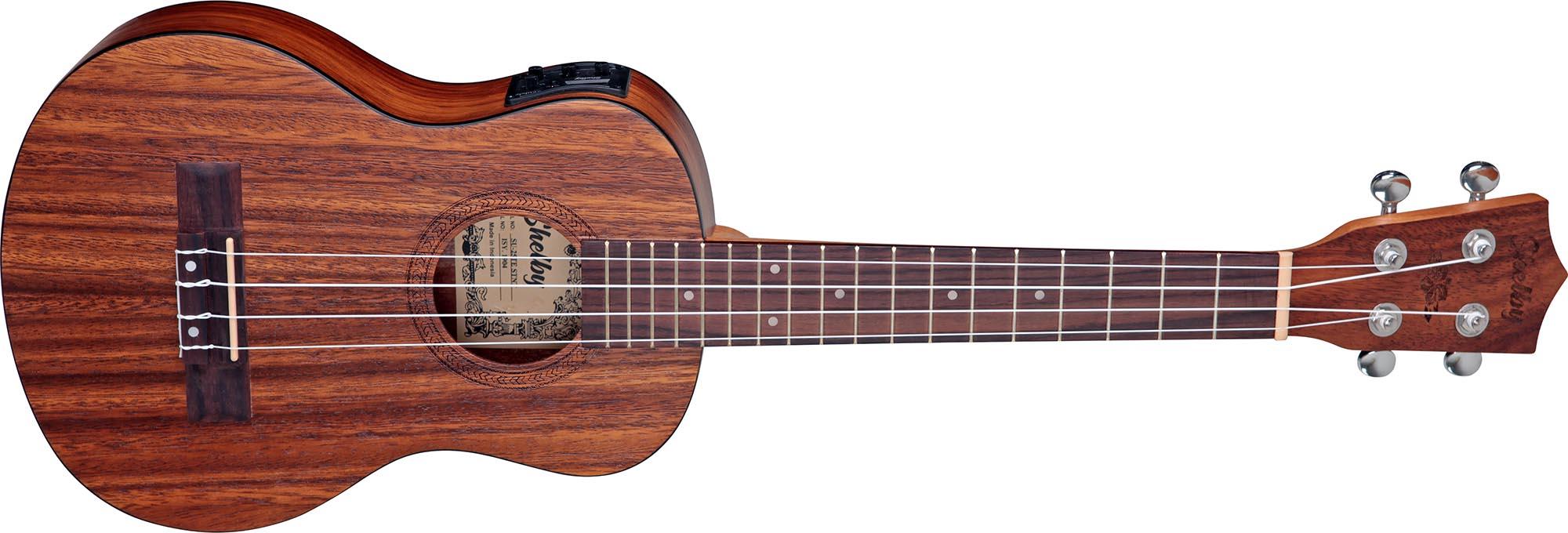 su25te ukulele tenor eletroacustico shelby su25te stnt teca acetinado visao frontal