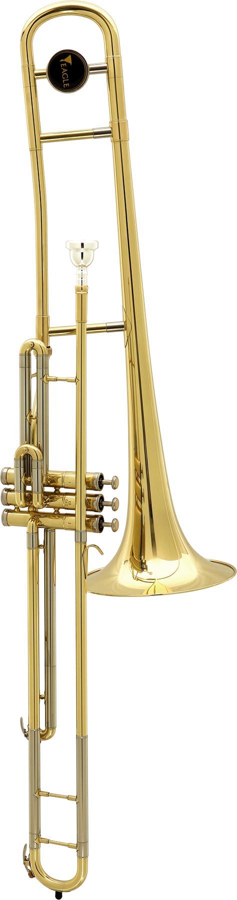 tv602 trombone de pisto longo eagle tv602 laqueado vertical