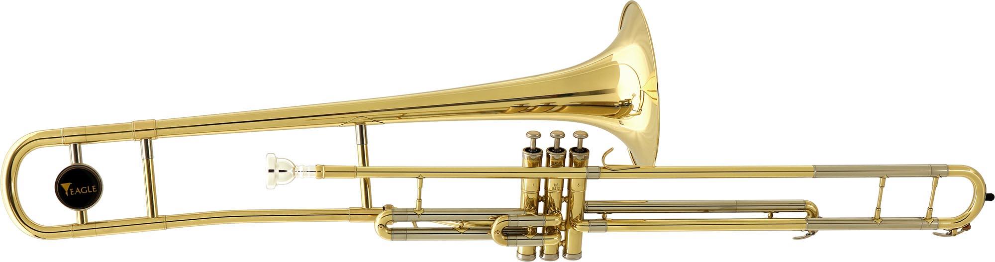 tv602 trombone de pisto longo eagle tv602 laqueado