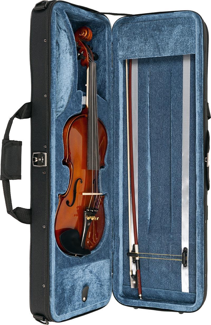 ve144 violino eagle ve144 estojo aberto vertical