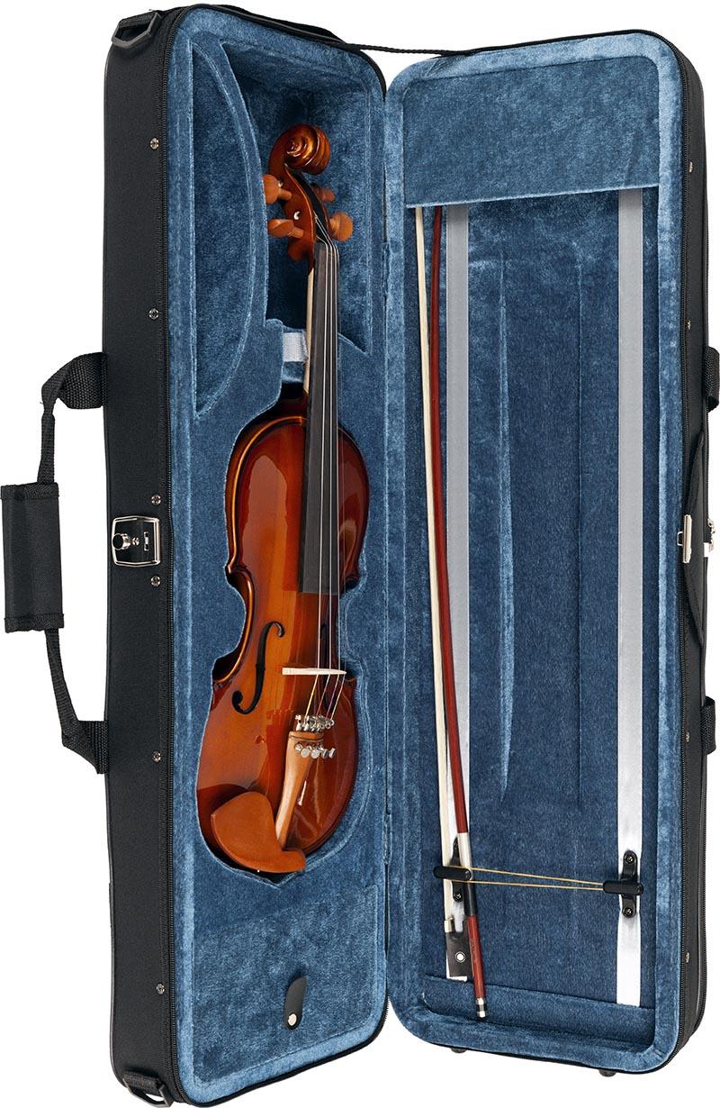 ve431 violino eagle ve431 estojo aberto vertical